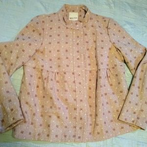 Walter Girl Anthropologie Pink Wool Jacket Sz 12